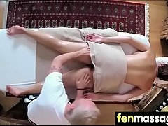 Gorgeous Skinny gets a massage 21