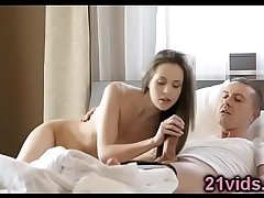 Abril Gerald sexy brunette morning fuck
