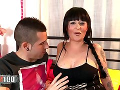 Tattooed MILF ass fucked by young spanish guy