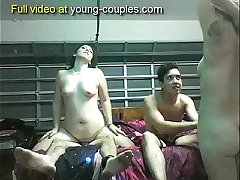 Real best friends fucking two sluts on college