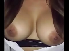 Wonderful Topless girl move boobs on bollywood song