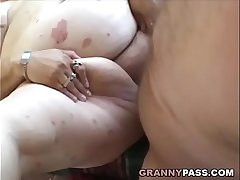 Granny And Her BBW Girlfriend Receives Cumshot