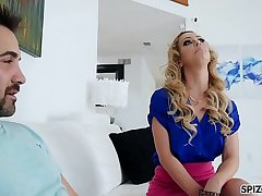 Spizoo - Step mom Cherie Deville get pound her pussy and mouth in every position
