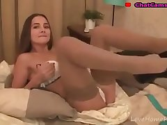 long brown hair and the passion for masturbation