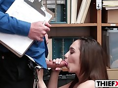 Pervert Officer Likes To Fuck Her For Theft