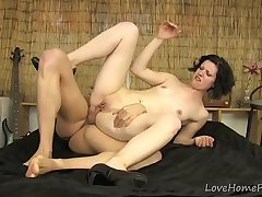 Petite Amateur Gets Spanked and Spread Wide Open