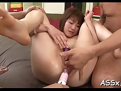 Lively anal drilling for 2 oriental babes