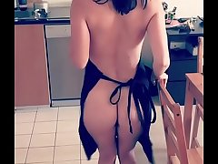 My wife cooking nude in kitchen going to fuck her roughly hard in this good morning