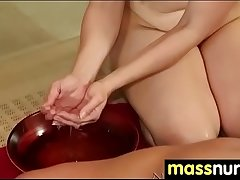 SEXY body gets a happy ending massage 8