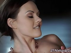Euro milf rides cock after an erotic massage