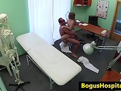 Dicksucking eurobabe banged by doctors cock